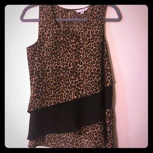 Charming Charlie leopard print silky tank top